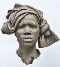 KINSHASA BRIDE: Life size portrait sculpture