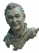 BRIAN CLOUGH: Manager Nottingham Forest Football Club - life size portrait