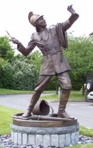 ENTRY EFFECTED: 7ft bronze public sculpture of Victorian fireman