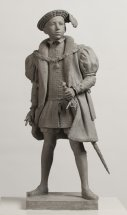 KING EDWARD VII: Figurative sculpture - proposal for Tudor series at Greenwich London