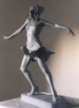 FEMALE LATIN DANCER 1: Sculpture commission for P&O cruise ship Aurora