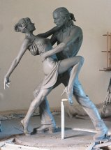 TANGO: Life size dancers - Sculpture commission for P&O cruise liner Aurora