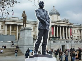 SIR KEITH PARK: Collage of both statues - Waterloo Place and Fourth Plinth Trafalgar Square London