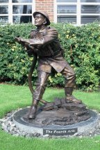 THE FOURTH ARM: Bronze commemorative statue of WW2 fireman